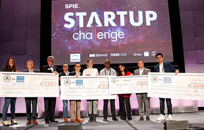 Startup Challenge 2019 winners and judges on stage in San Francisco.