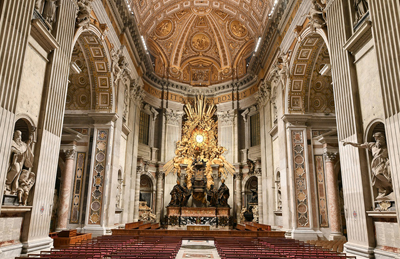 Guiding light: St. Peter's Basilica in the Vatican, Rome, newly relit by Osram.