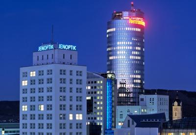 Jenoptik's Ernst Abbe Building in Jena, Germany.
