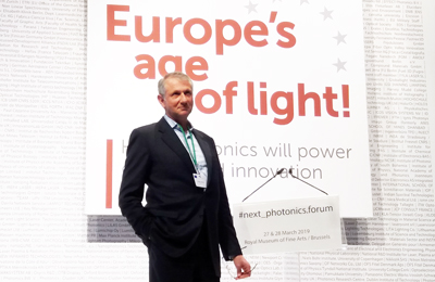 Crunch time: Photonics 21 Vice President Giorgio Anania.