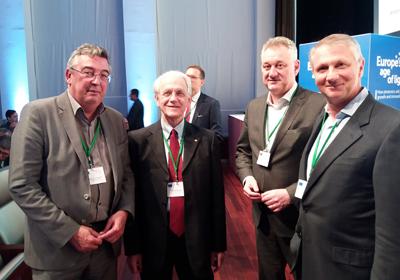 Jen Luc Beylat (P21), Gérard Mourou, Bernd Schulte and Giorgio Anania.