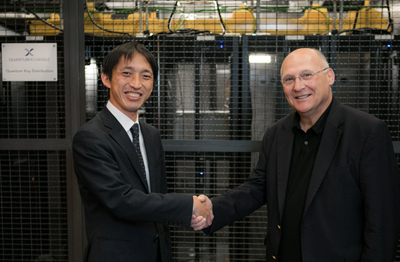 Joint venture: Shinya Murai, of Toshiba, and John Prisco, of Quantum Xchange.