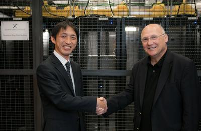 Joint venture: Shinya Murai, of Toshiba, and John Prisco, of Quantum Xchange.