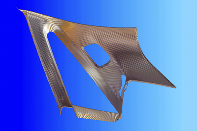 Simulation software enables users to view the laser-structured surface.