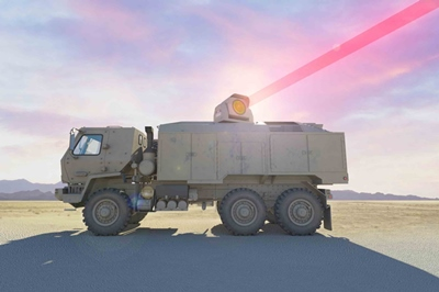 Truck-mounted laser weapon