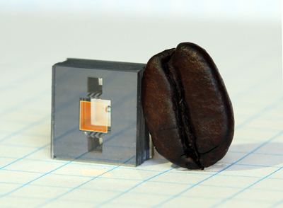 Coffee time: The heart of NIST's next-generation miniature atomic clock.