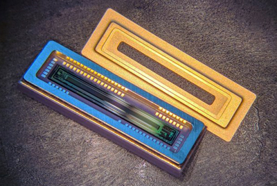 Emberion's fully packaged linear array detector.