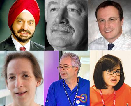 Winners: (L-R) Singh Dua, Southwood, Dorman, Margolis, Hanson, Feinmann Wade. all: (clockwise from top left) Singh Dua, Southwood, Dorman, Margolis, Hanson, Feinmann Wade.
