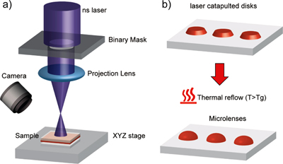 Practical implementation and operational principle of laser catapulting.