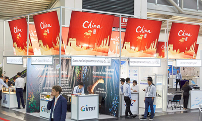 Chinese photonics companies have a significant presence on the LASER expo.