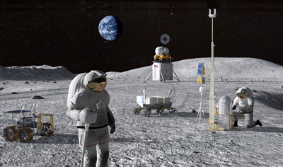 NASA is planning to land astronauts back on the Moon by 2024.