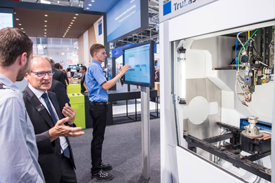Diverse industrial solutions: Trumpf on show at LASER 2019, last week.