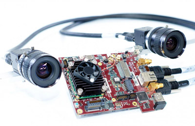 Stereo camera and the embedded system installed on the drone.