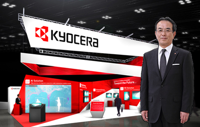 Expansive: Kyocera with its President, Hideo Tanimoto.