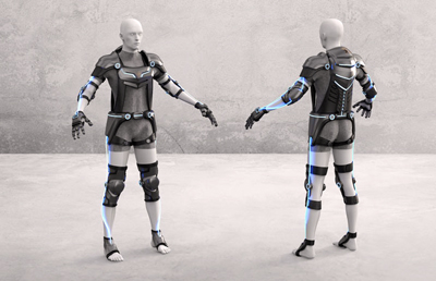 Optical sensing and control: Moiin's X-1 suit.