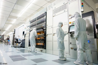 imec's cleanroom can now test resist materials and provide process capabilities.
