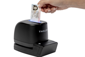 Covid safer: Thales' double-sided ID card reader.