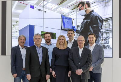 Project team from Heraeus Amloy and Trumpf Additive Manufacturing.