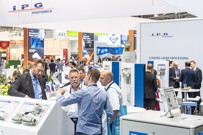 IPG's booth at last year's Laser World of Photonics trade show