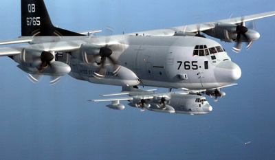 KC-130J aircraft to be fitted with BAE's Infrared Countermeasures system.