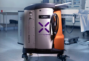 Xenex's Germ-Zapping Robots™ generate UVC light.