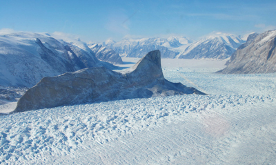 Kangerdlugssup glacier, Greenland, has lost 4-6m of ice per year over past 16 years.