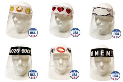 Safety and fun: American Paper Optics' Personal Protective Expressions shields.