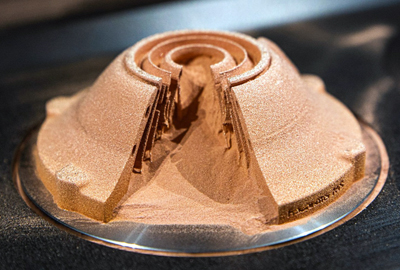 New AM system completely melts pure copper powder.