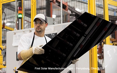 First Solar CdTe panel production