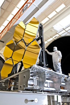 JWST mirrors: coated