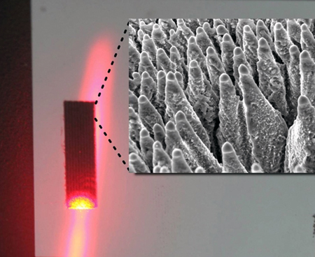 Improved performance: black silicon irradiated by laser.