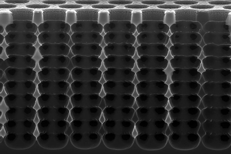 Another dimension: SPRIE produces micrometer structures that refract light.