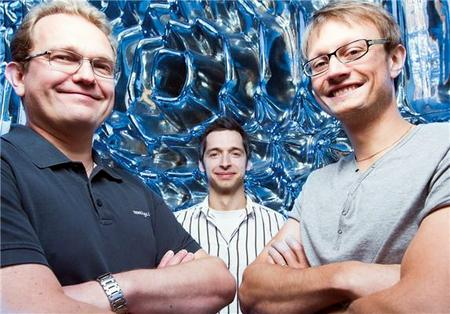 Blood brothers: SINTEF researchers Johansen (left), Mielnik and Grepstad.