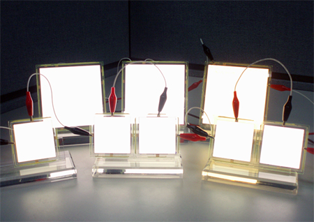 White OLEDs for lighting based on Universal Display's PHOLED technology.