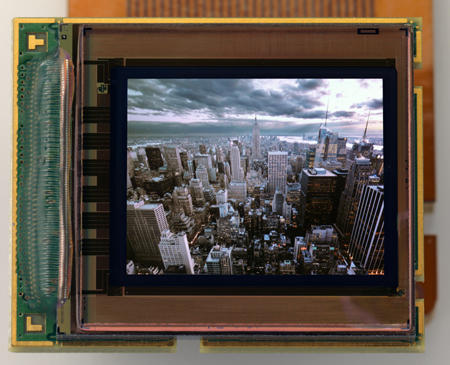 MicroOLED's 5.4 million pixel low-power OLED display.