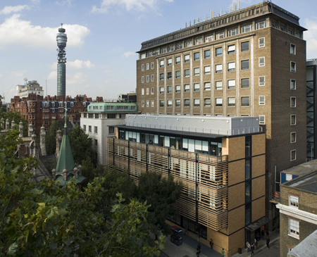 Telecoms view: UCL's Engineering department.