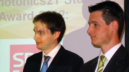 Student winners: Schrenk and Geernaert