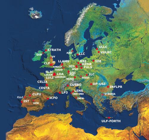 Continental consortium: Laserlab Europe's reach.