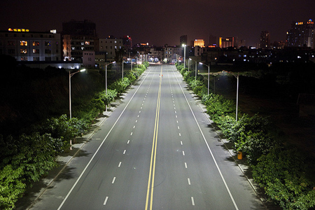 Bright nights: LED street lighting can generate energy savings as high as 85%.