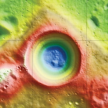 Water hole? New elevation map of Shackleton crater.