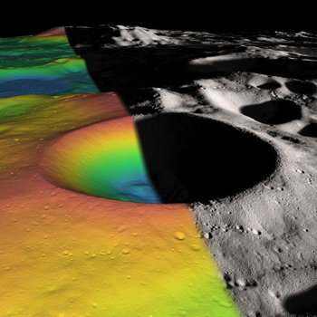 Pole hole: Shackleton crater at the moon's South Pole.