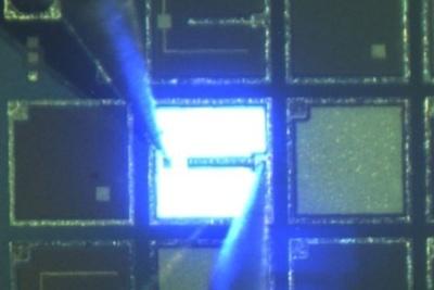 GaN-on-silicon LED