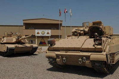 Abrams tanks: fitted with Inrad's optics