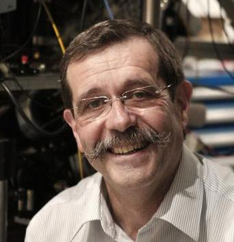 Alain Aspect, rewarded for work on optical and atomic physics.
