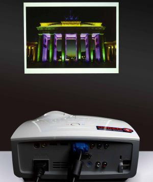 Laser projectors for classroom and boardroom