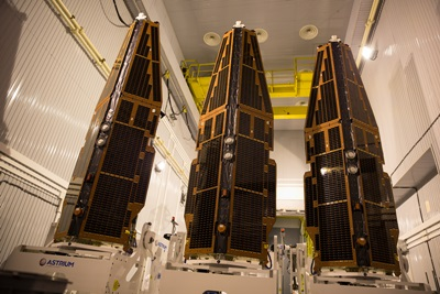 Swarm's three satellites