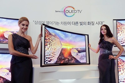 Curvy: TVs adopt OLED characteristics