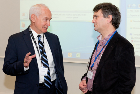 Prof. Lionel Kimerling (MIT, left) and Prof. Roel Baets (Ghent and IMEC).