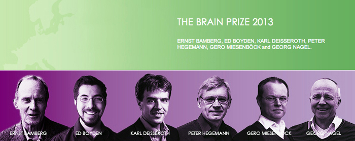 Brainwave: Optogenetics development team has been awarded the 2013 Brain Prize.