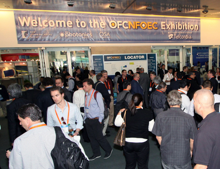 Crowded: OFC/NFOEC 2013, the annual optical fiber communications and technologies expo.
